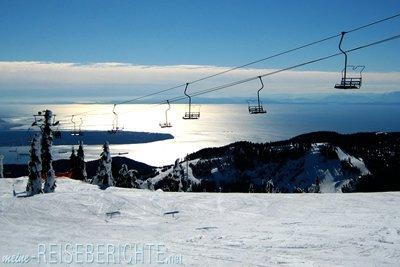Kanada British Columbia Vancouver Cypress Skifahren Piste