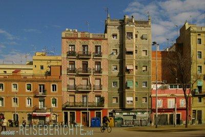 Städtereise Barcelona Häuser in Barceloneta