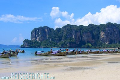 Thailand Rundreise Krabi Küste Boote Wassertaxi