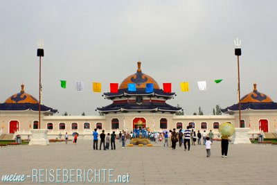 China Rundreise Innere Mongolei Gengis Kahn Grabmal Dschingis